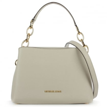 Michael Kors Portia Small Grey Saffiano Leather Shoulder Bag