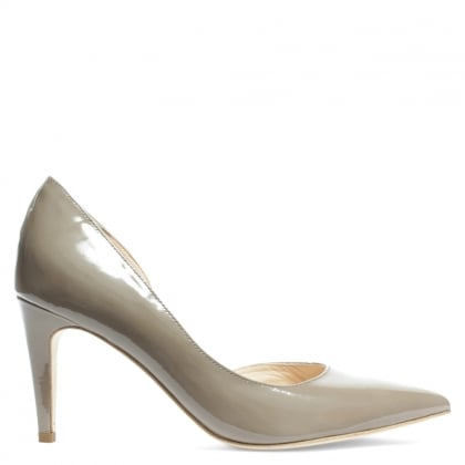 Kennel & Schmenger Savannah Taupe Patent Leather Open Side Court Shoe
