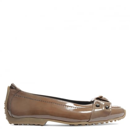 Kennel & Schmenger Ametsa Taupe Patent Knotted Front Pump