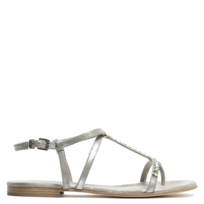 Kennel & Schmenger Somali Taupe Suede Diamante Toe Post Sandal