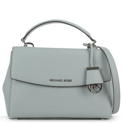 Michael Kors Ava Small Satchel Blue Leather Saffiano Tote Bag