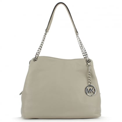 Michael Kors Jet Set Chain Large Taupe Leather Shoulder Bag