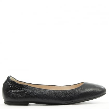 Daniel Classic Navy Leather Ballerina Flat