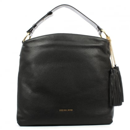 Michael Kors Elyse Large Black Leather Shoulder Bag