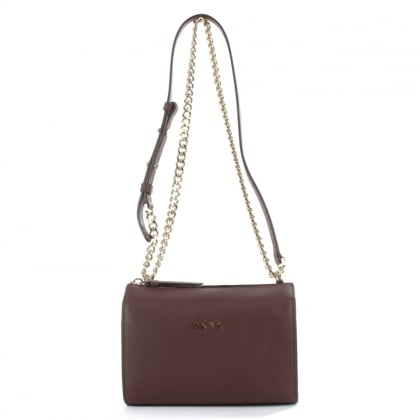 DKNY Bryant Burgundy Saffiano Leather Cross-Body Bag