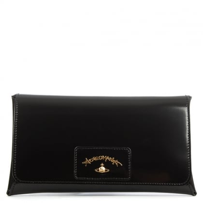 Vivienne Westwood Anglomania Newcastle Black Leather Clutch