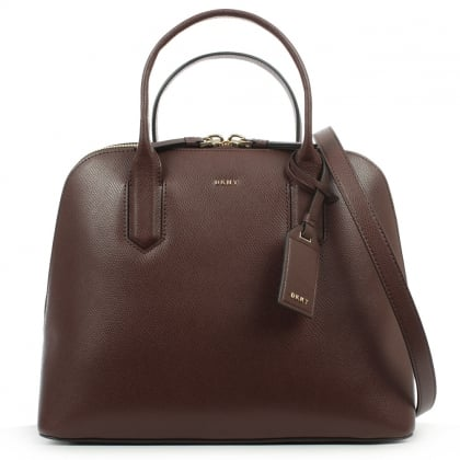 DKNY Bryant Park Medium Burgundy Leather Satchel Bag