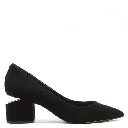 Alexander Wang Simona Cut Out Black Suede Court Shoe