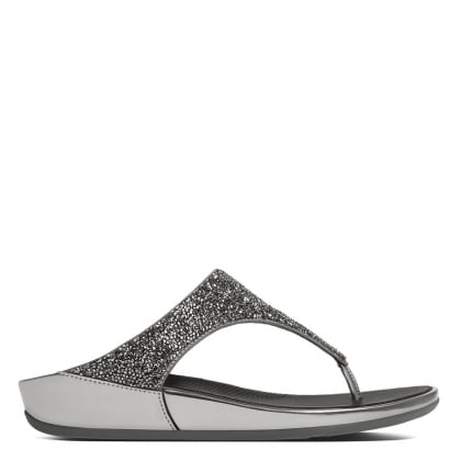 FitFlop Banda Roxy Pewter Toe Post Sandals