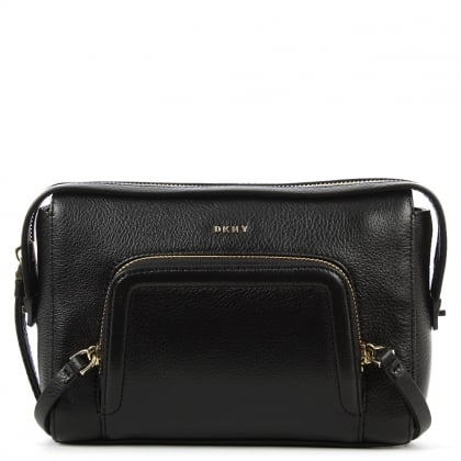 DKNY Chelsea Black Leather Zipped Crossbody Bag