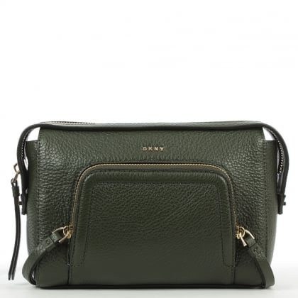 DKNY Chelsea Absynth Leather Zipped Crossbody Bag