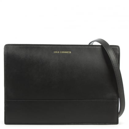 Lulu Guinness Mid Daphne Black Leather Crossbody