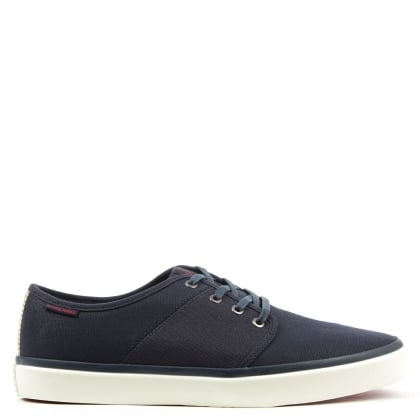 Jack & Jones Turbo Navy Canvas Lace Up Sneaker