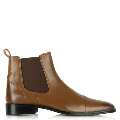 Gucinari Tan Leather Chelsea Boot
