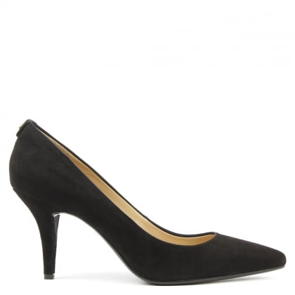 Michael Kors Flex Mid Black Suede Pump