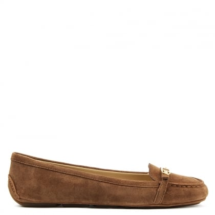 Michael Kors Bryce Tan Suede Driving Loafer