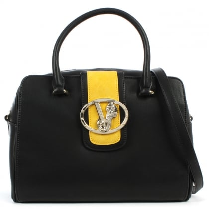 Versace Jeans Empire Black Contrast Bowling Bag
