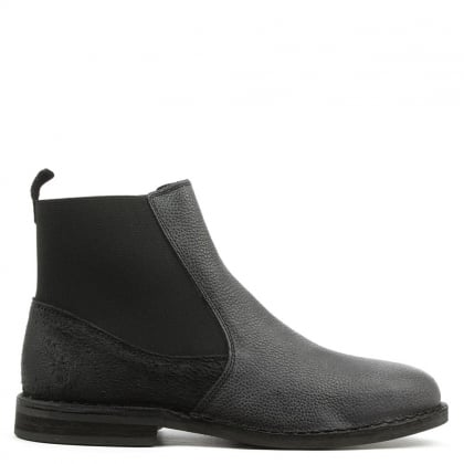 Fly London Wack Black Leather Chelsea Boot