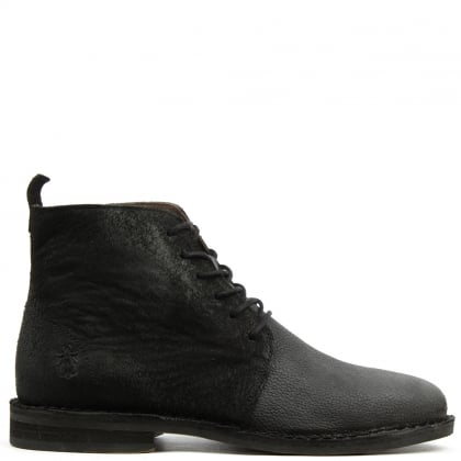 Fly London Wive Black Leather Contrast Ankle Boot