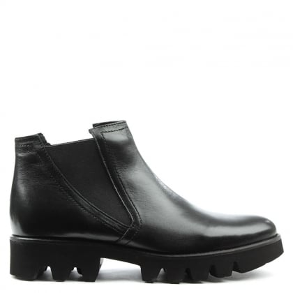 Daniel Sammie Black Leather Chunky Chelsea Boot