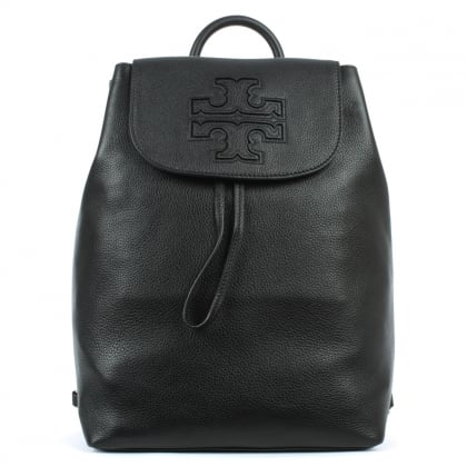 Tory Burch Harper Black Leather Backpack