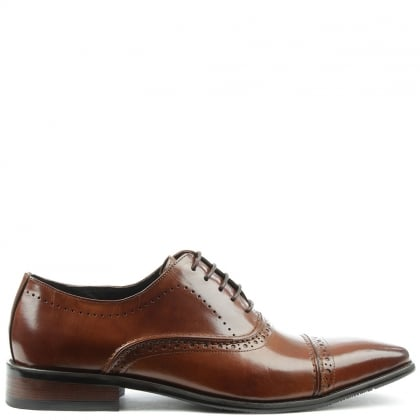 Daniel Holnest Tan Leather Square Toe Brogue
