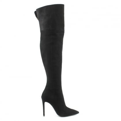Daniel Emmie Black Suede Over The Knee Boot