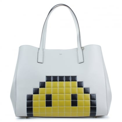 Anya Hindmarch Ebury Pixel Smiley Shopper Bag