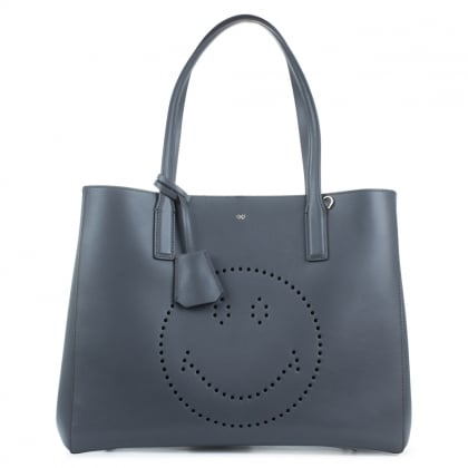 Anya Hindmarch Ebury Grey Smiley Shopper Bag