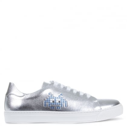 Anya Hindmarch Silver Space Invader Trainers