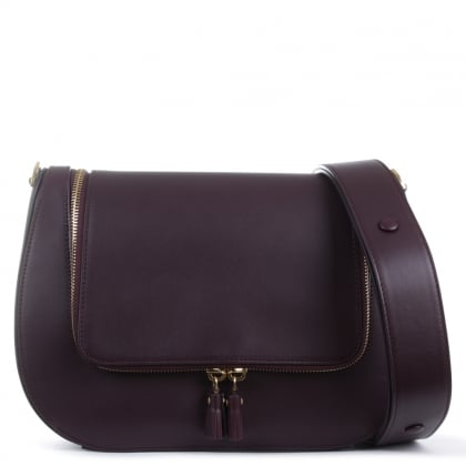 Anya Hindmarch Vere Burgundy Leather Satchel Bag