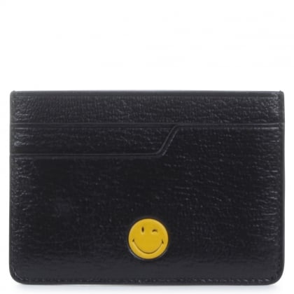 Anya Hindmarch Black Wink Card Case