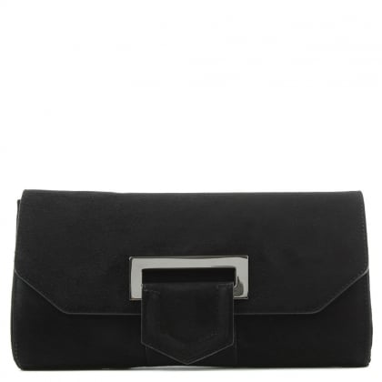 Daniel Summery Black Suede Clutch Bag