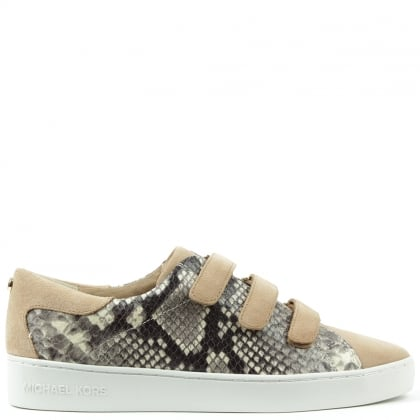 Michael Kors Craig Beige Leather Reptile Trainer