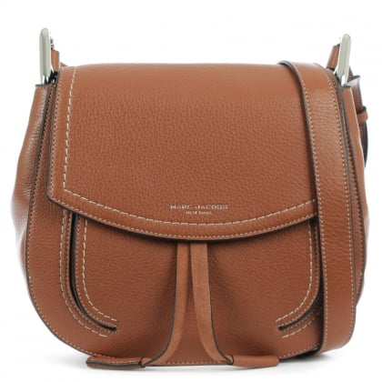 Marc Jacobs Maverick Cognac Leather Shoulder Bag