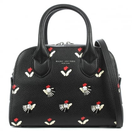 Marc Jacobs Tulip Small Black Leather Bauletto Bag