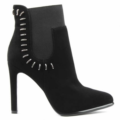 Kendall + Kylie Cassidy Black Suede Studded Ankle Boot