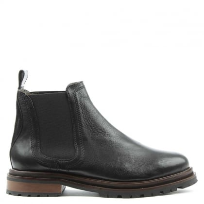 Hudson Wistow Black Leather Chelsea Boot