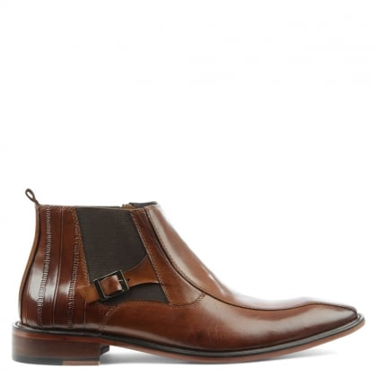 Daniel Halstock Tan Leather Chelsea Boot