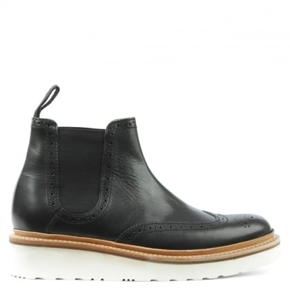 Grenson Alice Black Leather Chelsea Boot