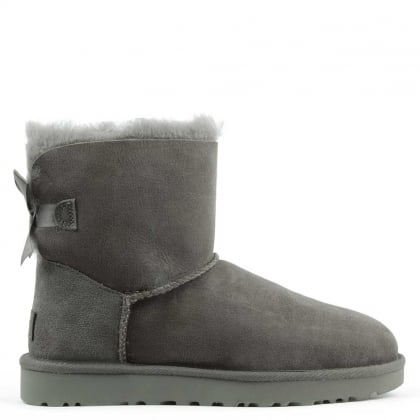 UGG Mini Bailey Bow II Grey Twinface Boot