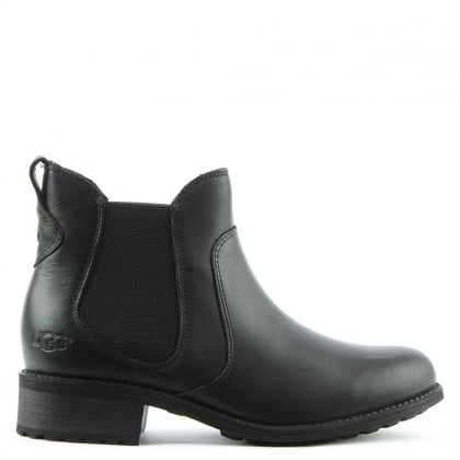 UGG Bonham Black Leather Chelsea Boot
