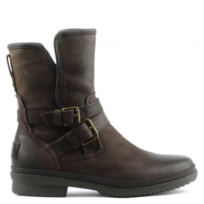 UGG Simmens Stout Leather Strap & Buckle Boot