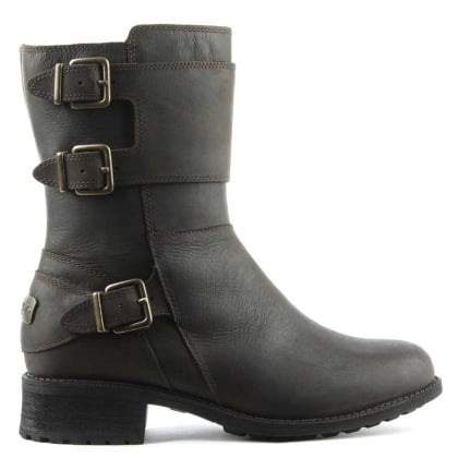UGG Wilcox Stout Leather Biker Boot