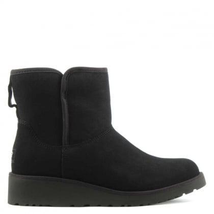 UGG Kristin Black Suede Twinface Boot