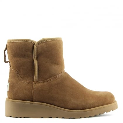 UGG Kristin Chestnut Suede Twinface Boot