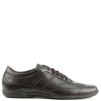 Enzo Feldini Brown Leather Lace Up Casual Shoe