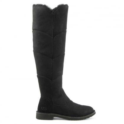 UGG Sibley Black Twinface Knee Boot