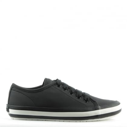 Camper Portol Black Leather Lace Up Trainer