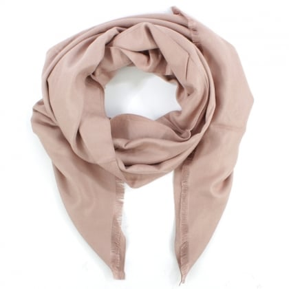 Daniel Luxe Silk Mix Pink Scarf